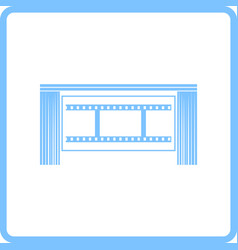 cinema theater auditorium icon vector image