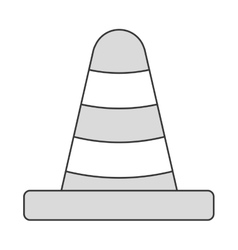 construction or traffic cone icon vector image
