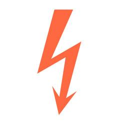 danger high voltage lightning symbol warning sign vector image
