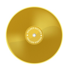 Golden record vector image