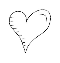 heart love romance passion drawn design vector image