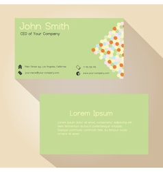 light green and hexagon simple business card vector image vector image
