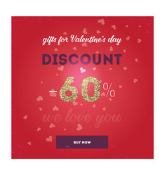 modern flyer with text happy valentine s day vector image vector image