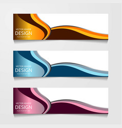 abstract web banner design background or header vector image