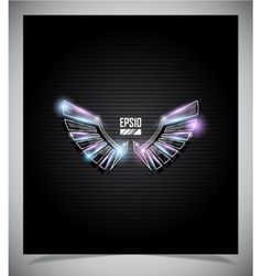 Abstraction dark background with wings vector