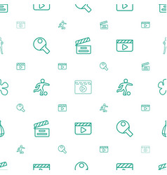 action icons pattern seamless white background vector image