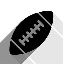 american simple football ball black icon vector image