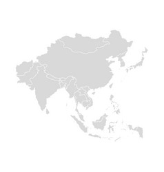 Asia map southeast country asian east vector