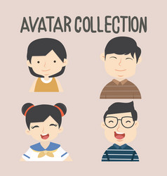 avatar different people set vector image