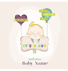 Baby Boy with Balloons - Baby Shower vector