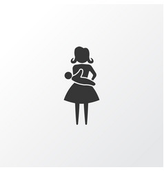 Baby icon symbol premium quality isolated mother vector