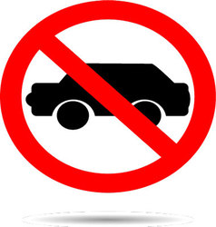 Ban cars sign flat icon vector