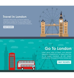 Banner travel to London Flat style vector
