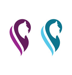 Beauty women face silhouette character logo vector