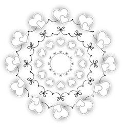 black and white circular round wedding mandala vector image