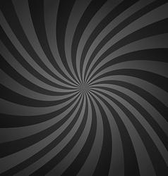 Black spiral pattern background vector