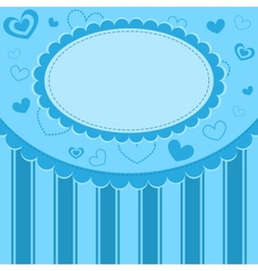 Blue kid background vector