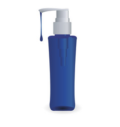 Bottle with shampoo vector