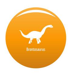 Brontosaurus icon orange vector