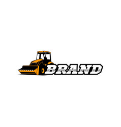 Bulldozer logo template vector