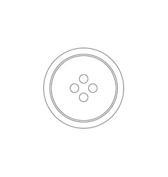 button for clothes flat icon vector image