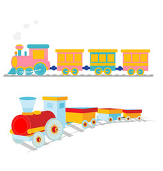 cartoon-train vector image