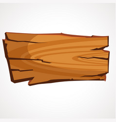 cartoon wooden signboard vector image
