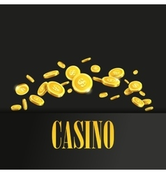 Casino Poster Background or Flyer with Golden vector image