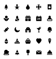 Christmas and Easter Icons 1 vector image