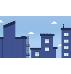 City buildings flat style vector