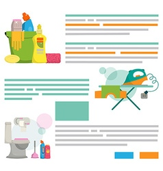Cleaning service Design template for print vector image