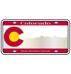 Colorado rocky mountain plate vector