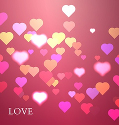 Colorful Hearts Background Valentine vector image