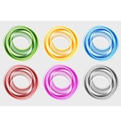 Colourful circles vector