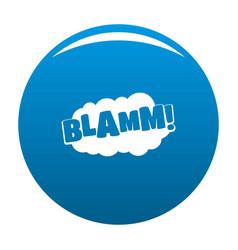 Comic boom blamm icon blue vector