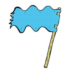 Comic cartoon white flag vector