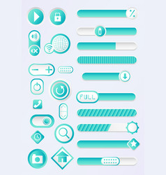 cyan blue buttons vector image