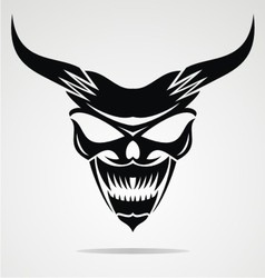 Demon Mask vector image