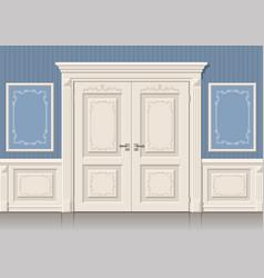 Door panels and classic vector