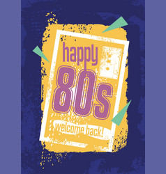 eighties retro banner design concept vector image vector image