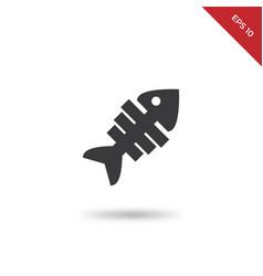 fishbones icon vector image
