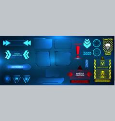 Futuristic hud ui interface framework vector
