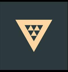 geometric triangle logo design technology vector image