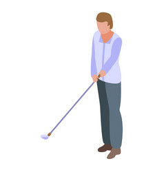 Golf player icon isometric style vector