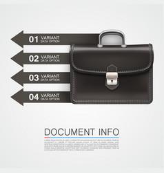 Gray bag business info art vector