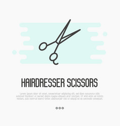 hairdresser scissors thin line icon vector image