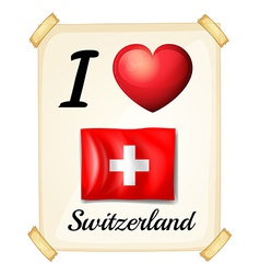 I love switzerland vector