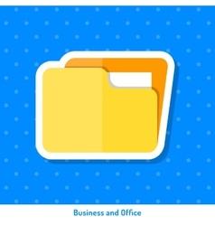 Icon of yellow folder vector