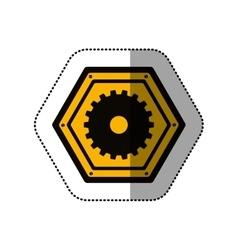 Isolated gear design vector