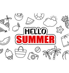 Its summer time background summer banner vector